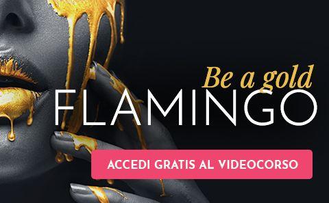 Banner Gold Flamingo